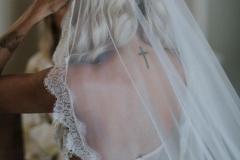 ADRIANNA | Lace Mantilla Wedding Veil
